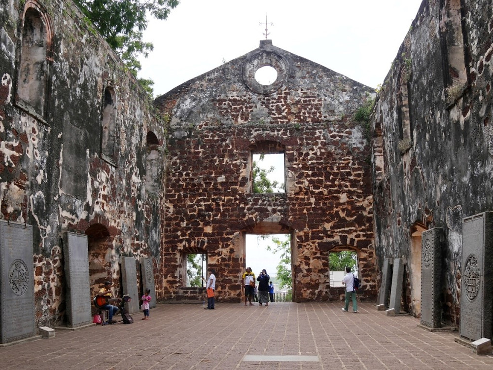 The ruins of St. Paul's Church