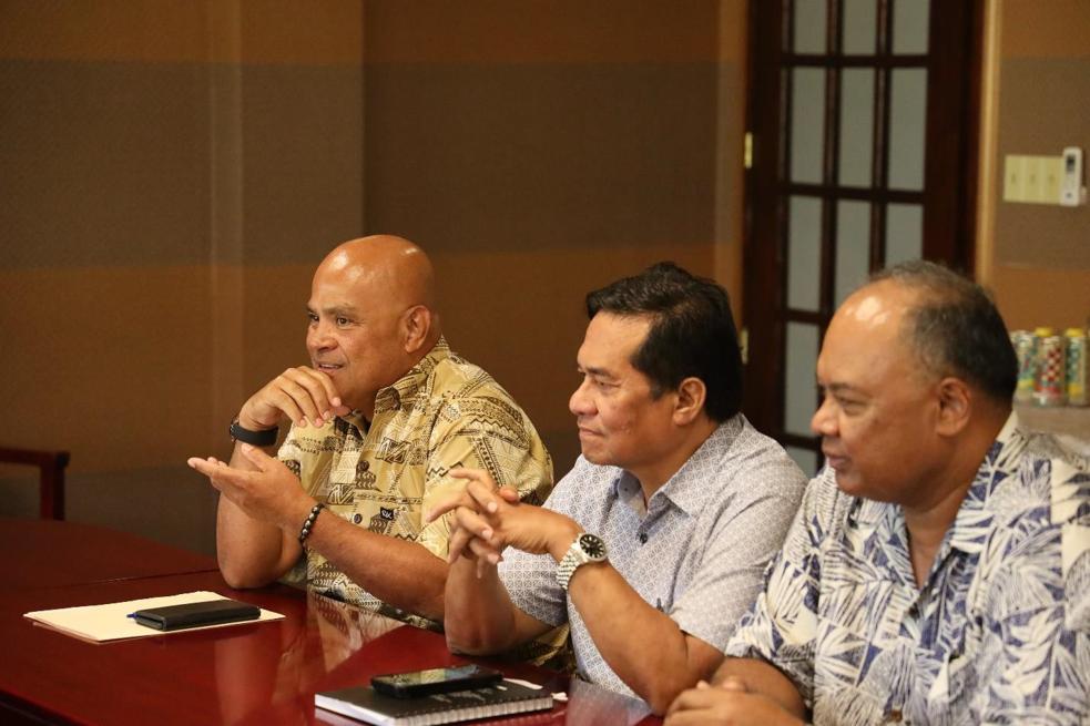 FSM President David Panuelo with ConCon delegates
