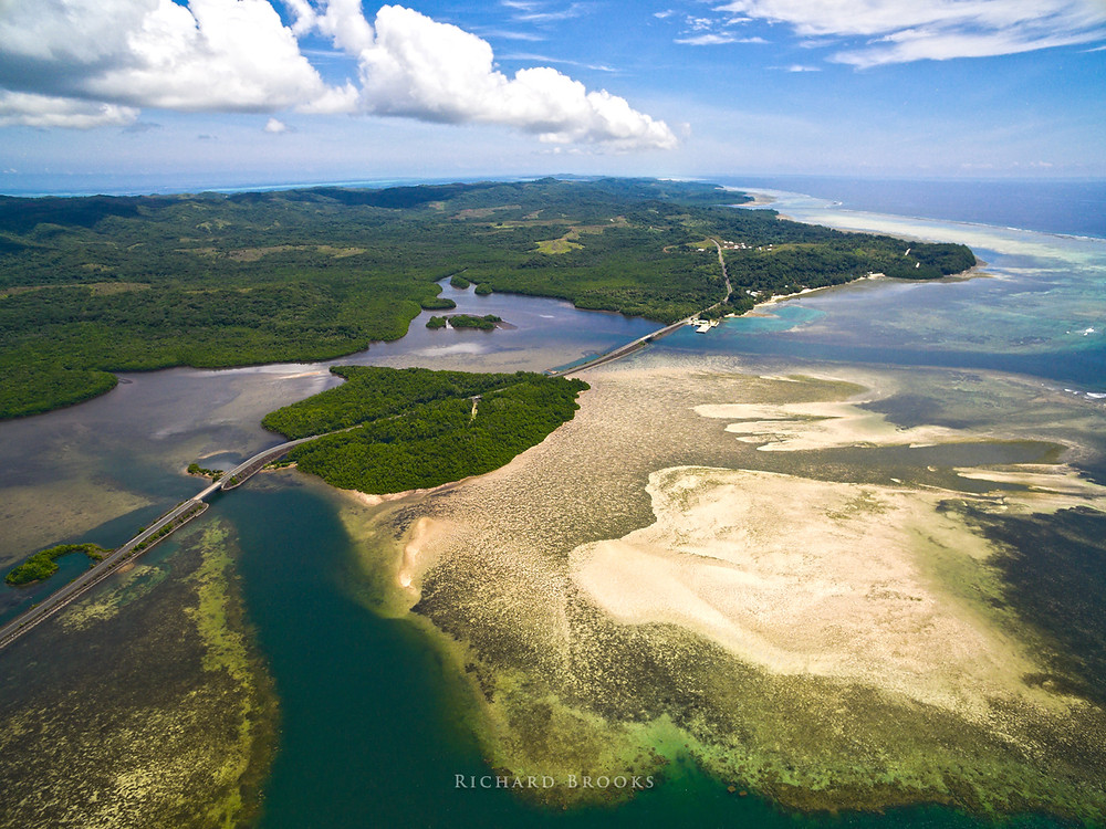 Protected areas such as this sea grass and reef area in Ngiwal are home to Dugongs and can be quickly and cheaply surveyed from the air with a drone without disturbing the animals, great for assessing population sizes.