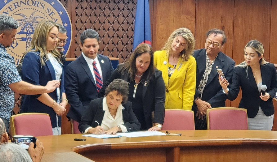 Gov Lou Leon Guerrero signs Bill 181