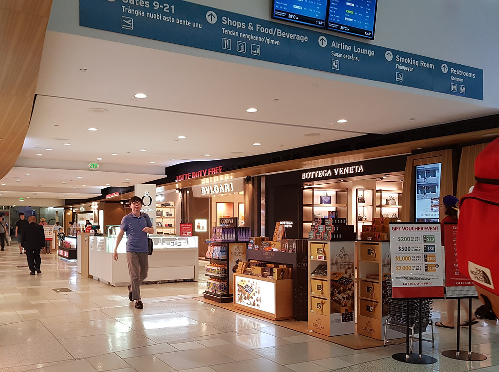 Lotte Duty Free Guam airport