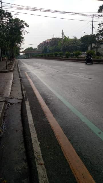 A once busy street in Marikina City now looks like a ghost town