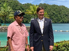 Esper: US military presence in Palau more important now than ever