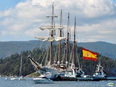 Spanish ship arriving on Guam