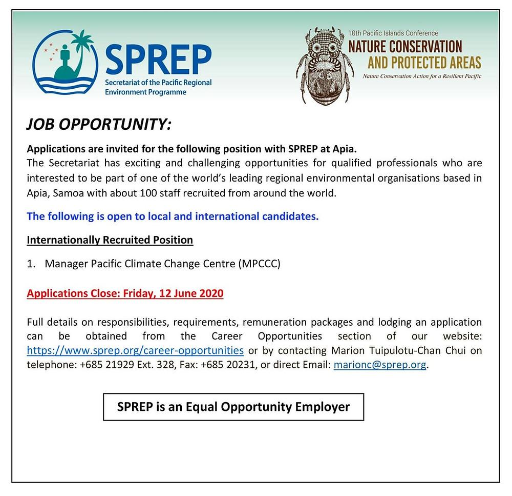 https://www.sprep.org/career-opportunities