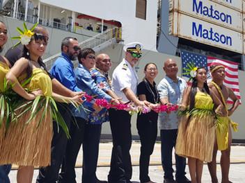 Matson welcomes containership Kaimana Hila