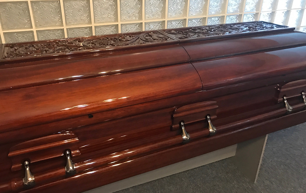 Mahogany casket