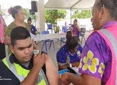 More than 100% of Nauru's adult population got first vaccine shots