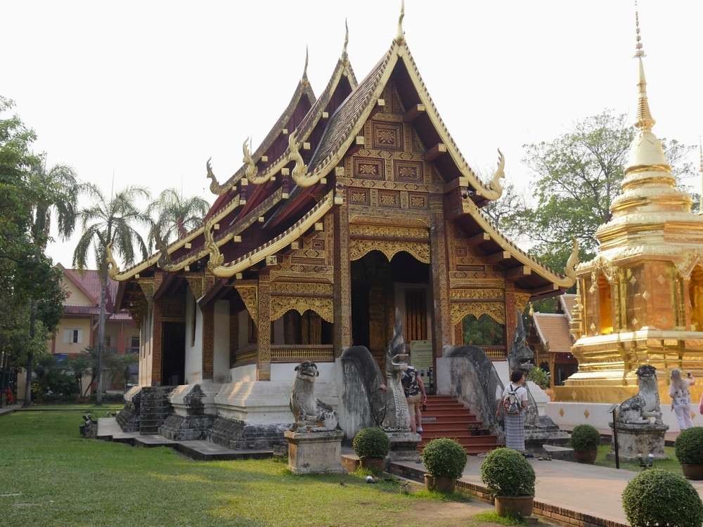 Buddhist temple called Wat Suan Dok, also known as Wat Buppharam.