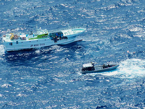 US Coast Guard patrol monitors illegal activity in Western Pacific