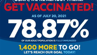 Keep your masks on, residents advised; Guam misses 80% vax rate on July 21