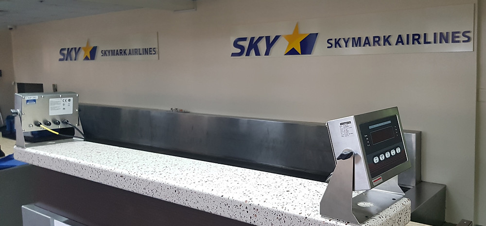 Skymark counter at Saipan airport