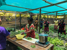 Women influencing healthy lifestyles while building climate resilience in the Marshall Islands