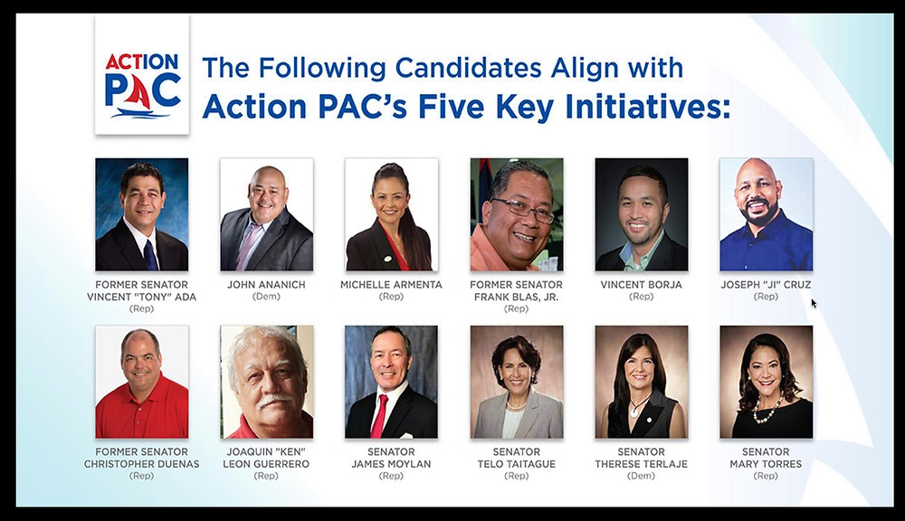 Action PAC's choice candidates