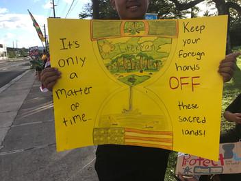 'Keep off our sacred lands'