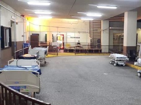 GMH exceeds capacity, patients overflow, beds set up at  curbside
