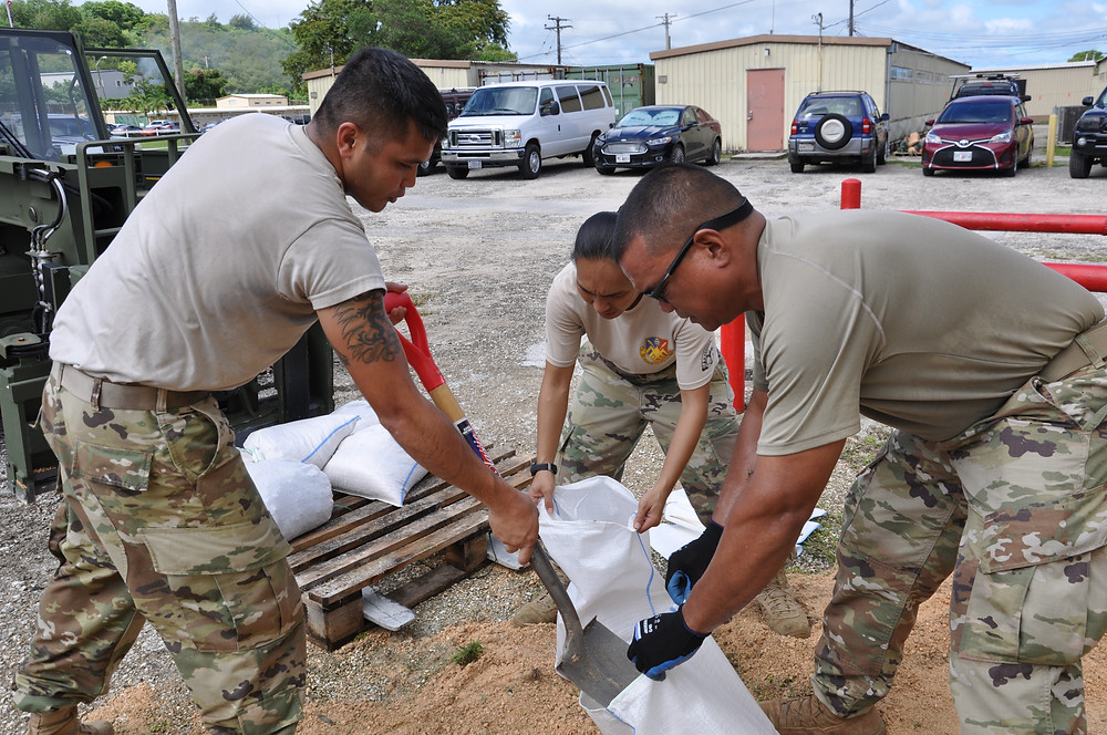 Guam National Guard helping during typhoon Mangkhut