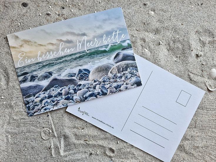 """Postkarte """"Ein bisschen Meer bitte"""""""