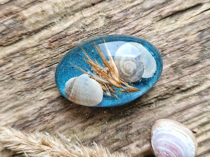 Strandgut Magnet Beach blau
