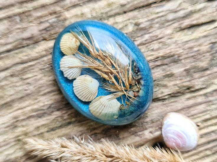 Strandgut Magnet Strandhafer blau