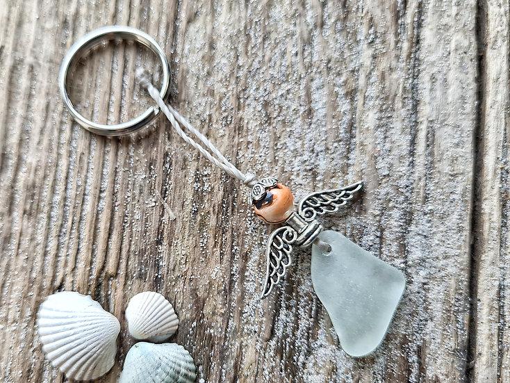 Seeglas Engel Schlüsselanhänger