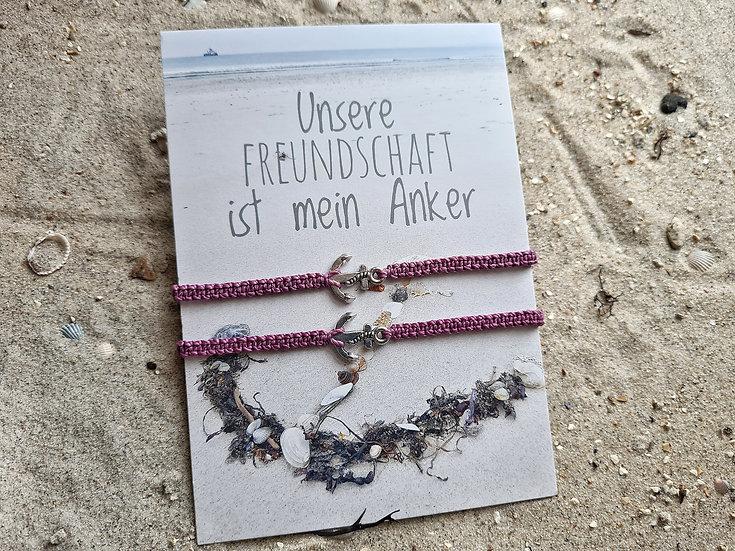 Geschenk Makramee Anker lila