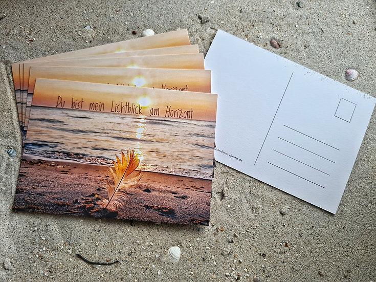 """Postkarte """"Du bist mein Lichtblick am Horizont"""""""