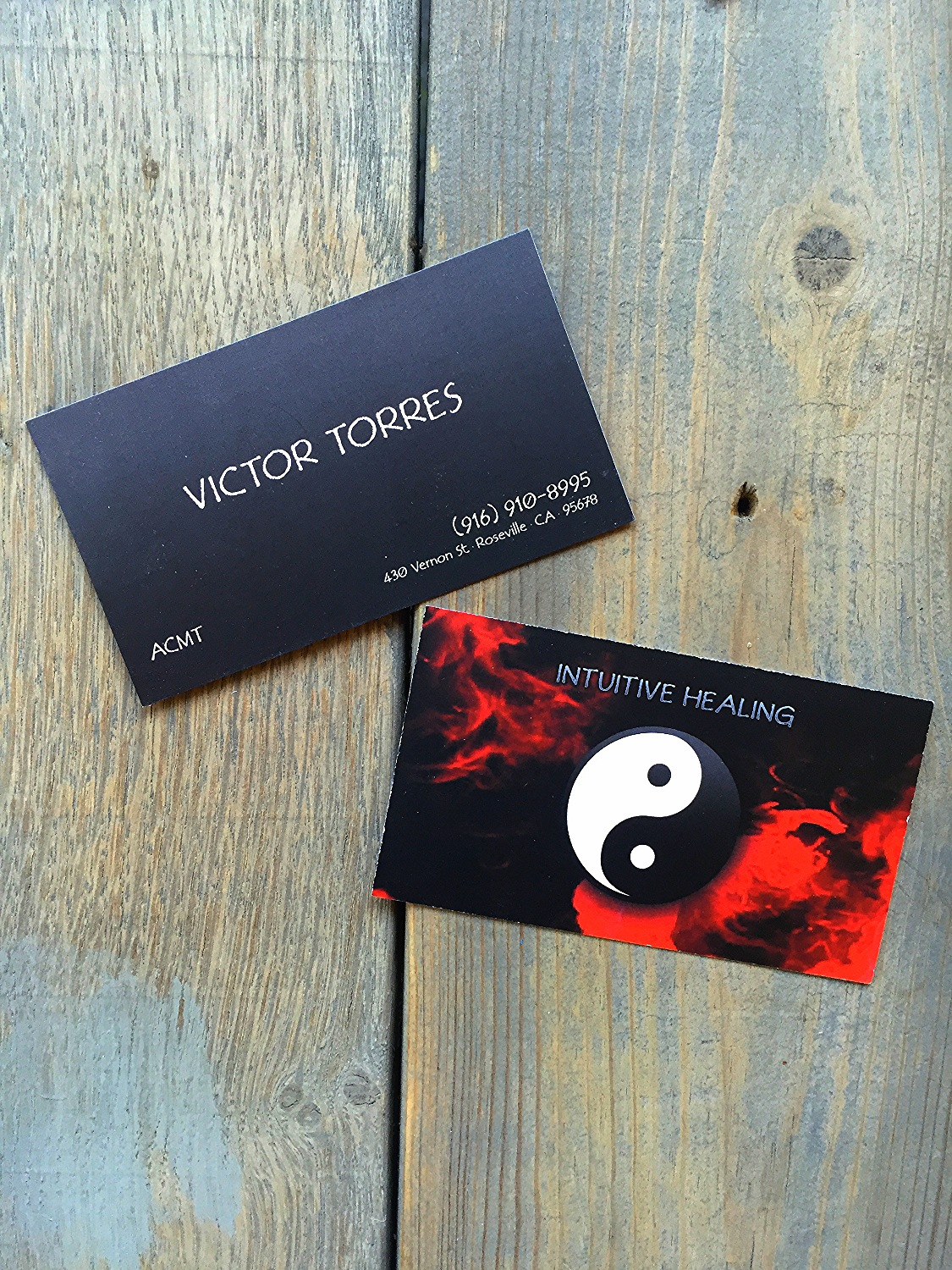 Intuitive Healing matte finish business cards