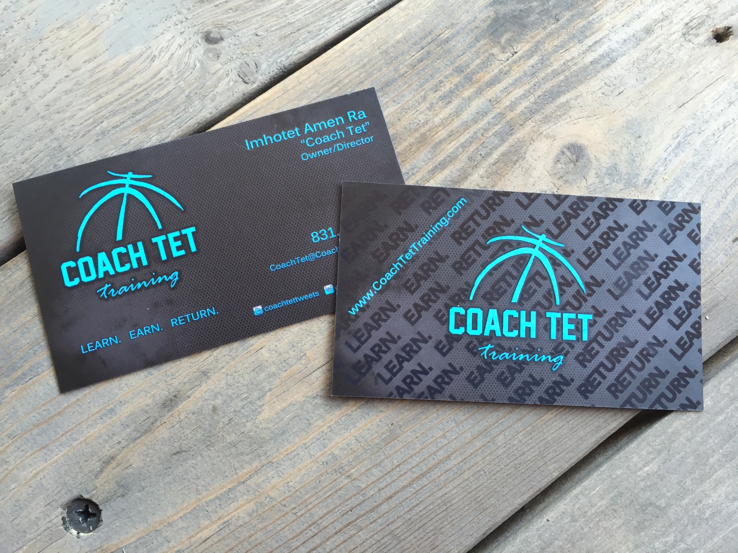 Business Cards Silk Lam Spot UV_Coach Tet Training