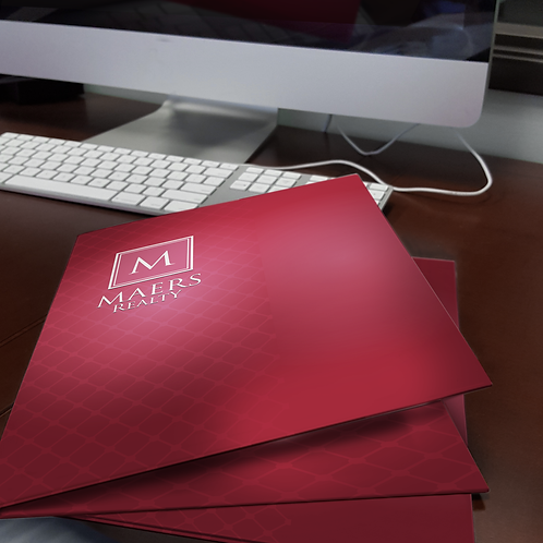 "500 quantity UPLOAD YOUR DESIGN 9""x12"" Presentation Folders"