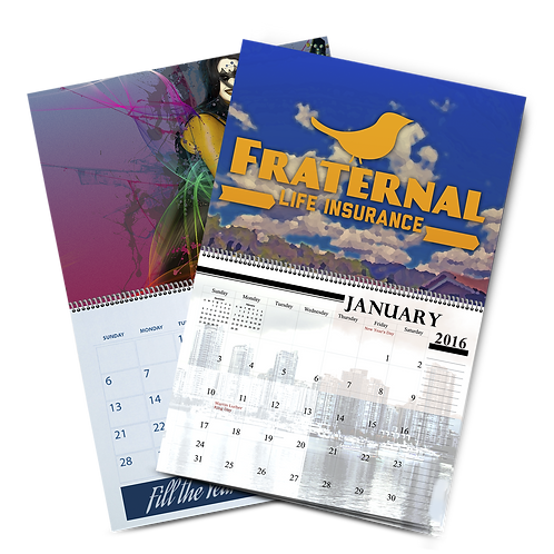 "500 quantity UPLOAD YOUR DESIGN 11""x8.5"" Calendar 24 page"