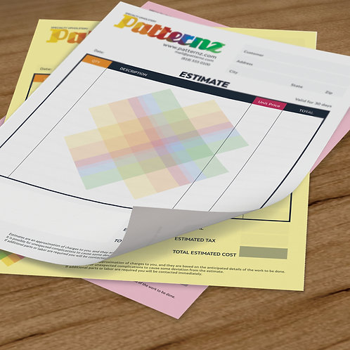 "100 quantity UPLOAD YOUR DESIGN 5.5""x 8.5"" 3 part NCR Forms"