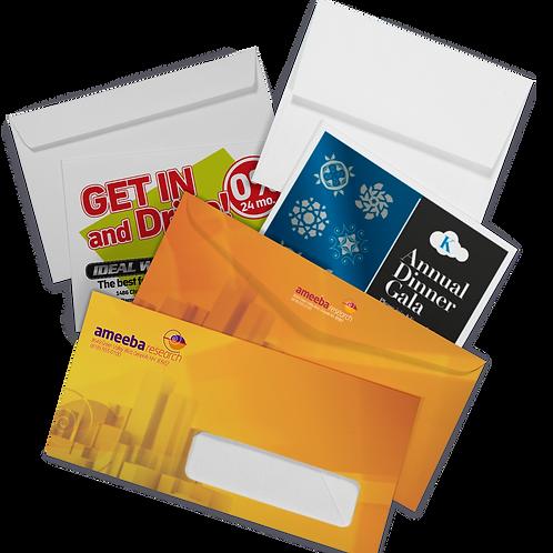 5000 quantity UPLOAD YOUR DESIGN #9 Envelopes