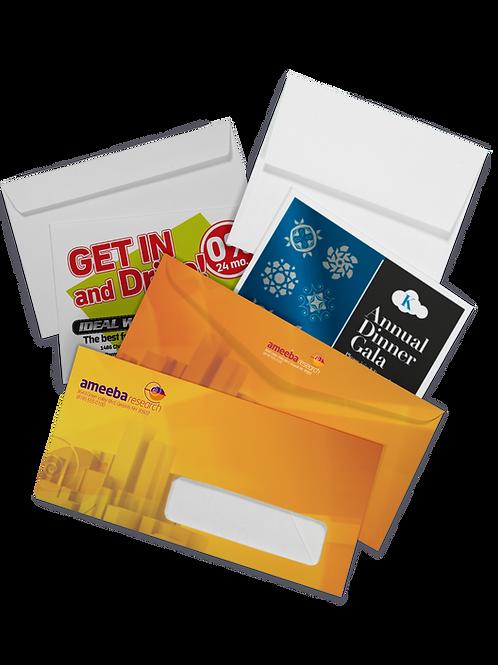 250 quantity UPLOAD YOUR DESIGN #9 Envelopes
