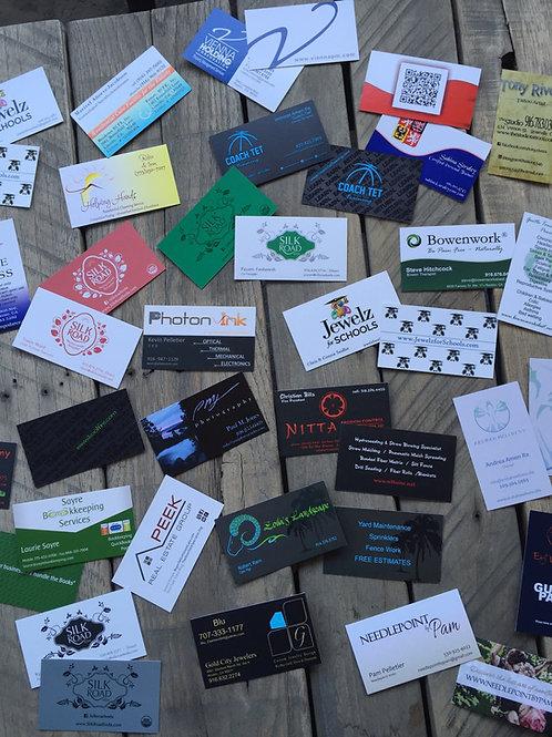 Business Card Design + Set of 500 Business Cards