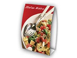 """10,000 quantity UPLOAD YOUR DESIGN 4""""x 6"""" Table Tents"""