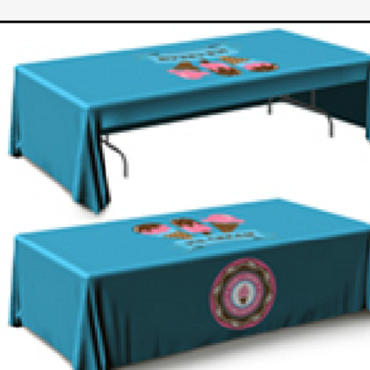 "132""x68"" Table Throw 3 Sided UPLOAD YOUR DESIGN"