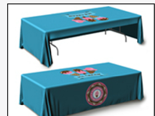"""132""""x68"""" Table Throw 3 Sided UPLOAD YOUR DESIGN"""