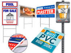 "Sign Design + Set of Ten 24""x18"" Coroplast Signs"