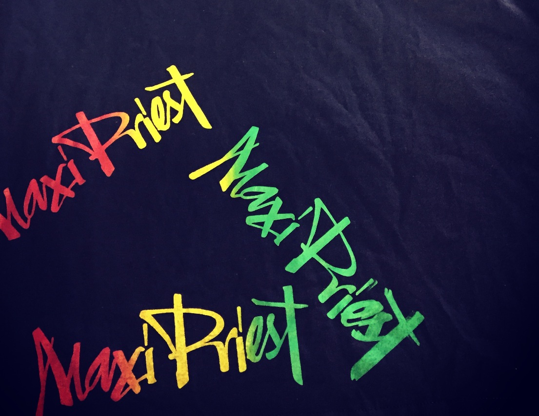 MAXI PRIEST RASTA BLEED SCREEN PRINT T-SHIRT