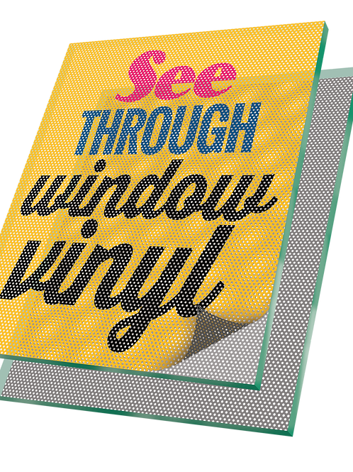 "24""x 24""Window Graphics See-Through Mesh Vinyl UPLOAD YOUR DESIGN"
