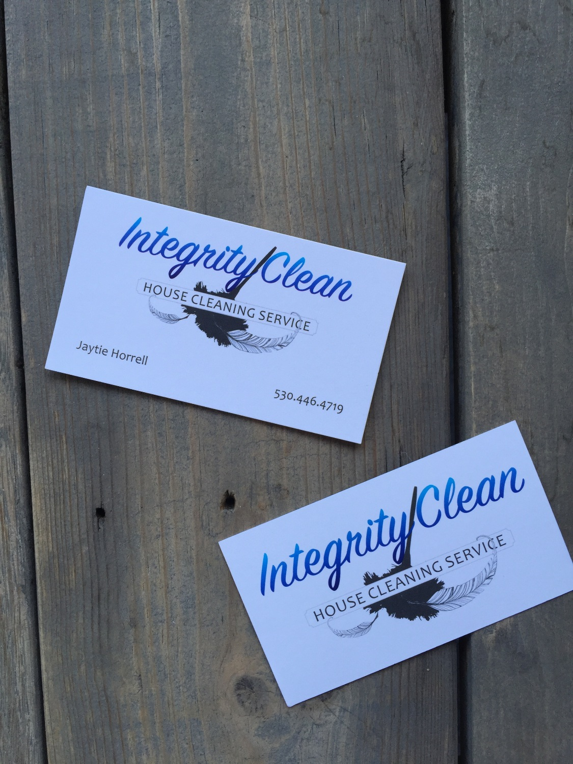Integrity Clean matte finish business cards
