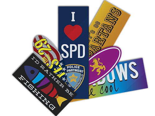 "250 quantity UPLOAD YOUR DESIGN 4""x 8"" Bumper Stickers"