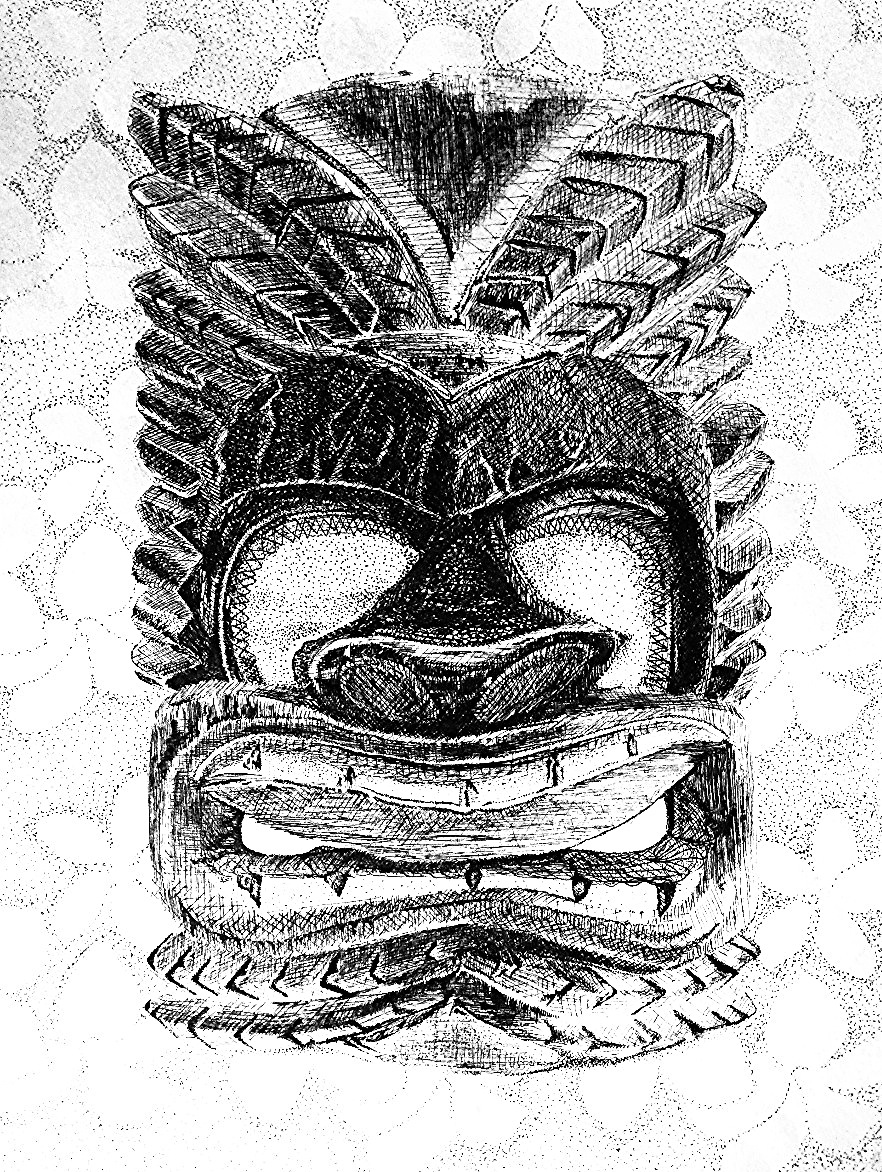 Tiki Pen & Ink by Nichelle Galloway