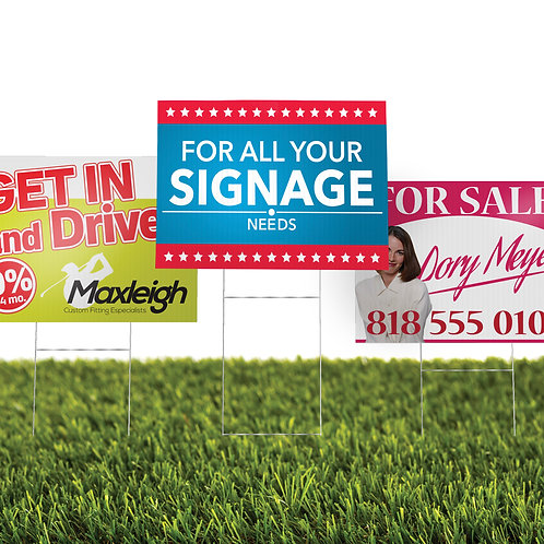 "20 quantity UPLOAD YOUR DESIGN 24""x 18"" Coroplast Yard Signs"