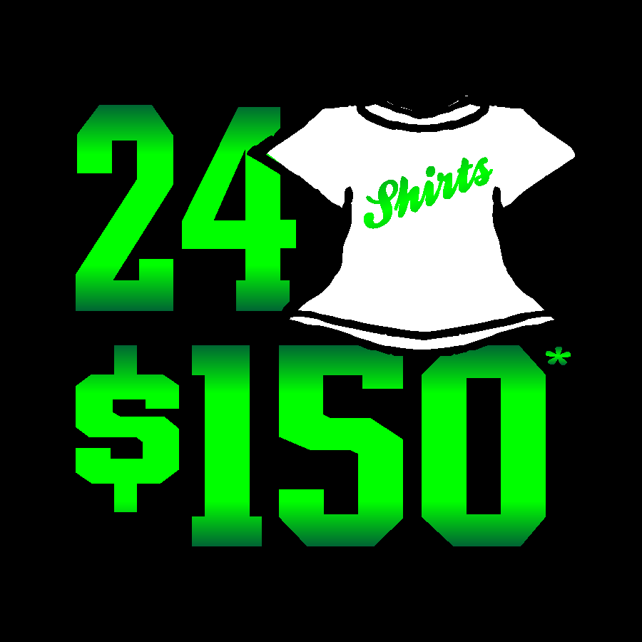 24 Shirts White Gildan $150