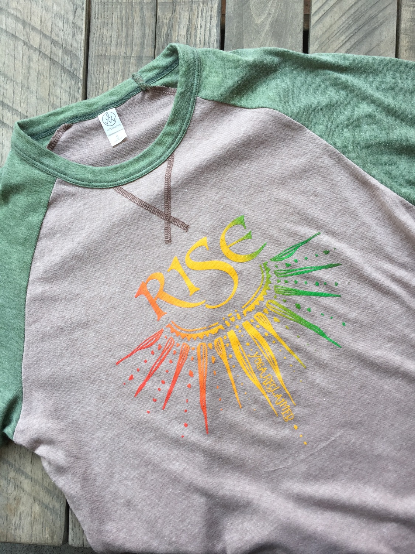 YR Rise Screen Print Raglan Organic Shirt