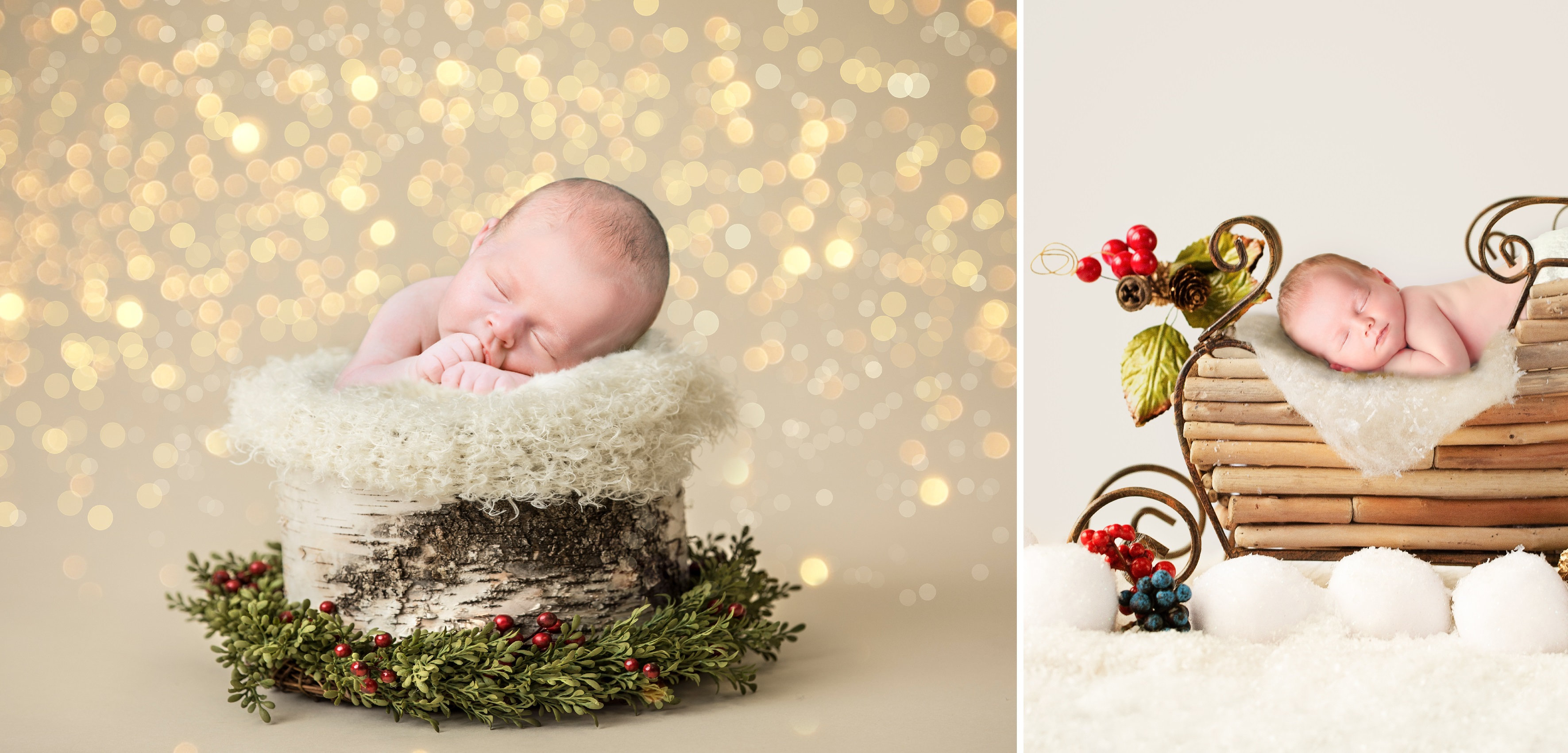 Christmas themed newborn session
