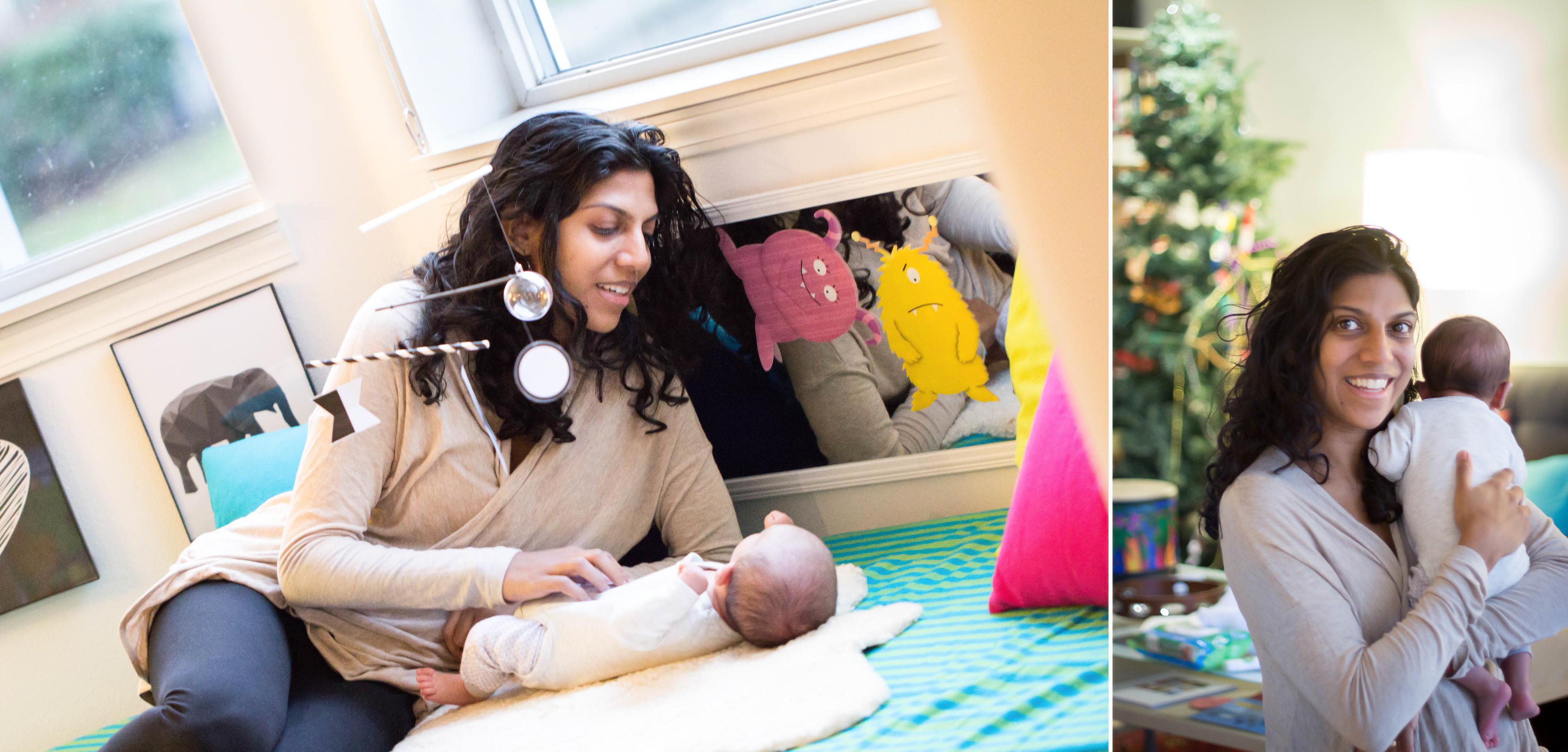 Newborn lifestyle session; Seattle