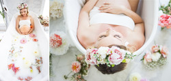 Maternity milk-bath session